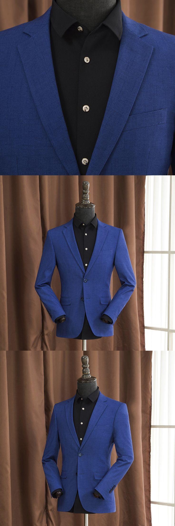 Autumn Men Casual Blazers Fashion Male Business Suit Jacket Plus Size M-4Xl Slim Solid Color Men Blazer A5111