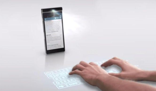 Interesante: Lenovo está trabajando en un teléfono con un proyector láser de enfoque libre