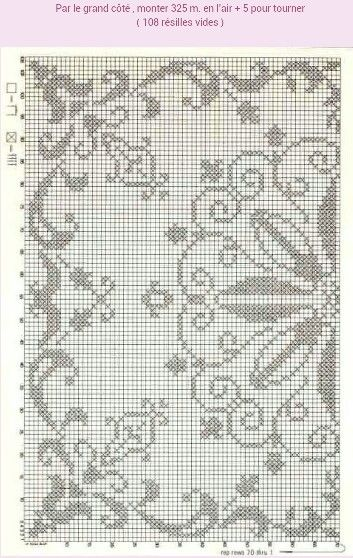Filet Crochet Square ( charted pattern only)