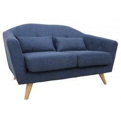 Toulon Sofa * 2 Seater * Blue