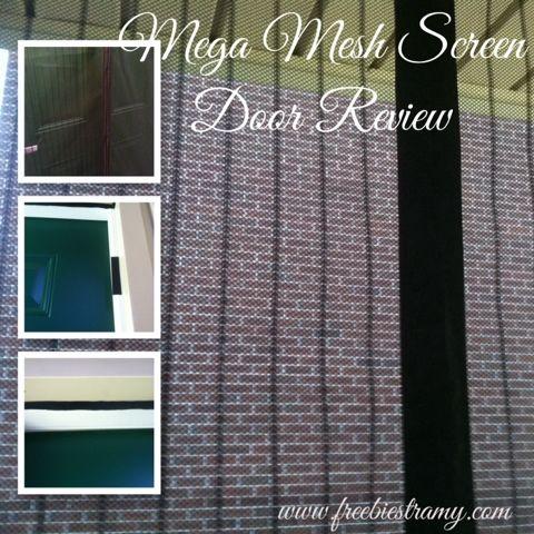 Freebiester Amy: Mega Mesh Screen Door Review #magneticscreendoor