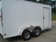 NEW 6x12 6 x 12 V-Nose Enclosed Cargo Trailer w/ Ramp - NEW 2017heavy equipment trailers apply now www.bncfin.com/apply
