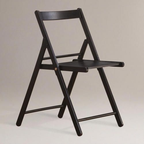 WorldMarket.com: Espresso Folding Chairs, Set Of 4 Not Crazy About The Back
