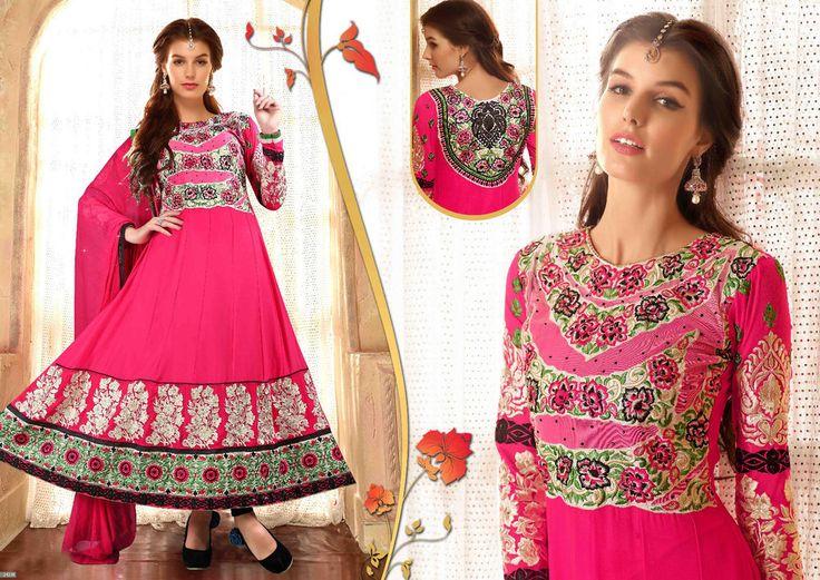 Wedding Pakistani Salwar Anarkali Designer Indian Kameez Bollywood Suit 1701…