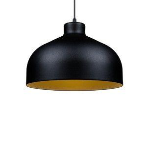 Stropné svetlo B&B black/gold, 22 cm