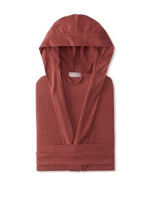 60% OFF Coyuchi Cloud Brushed Flannel Hooded Robe (Mulberry)