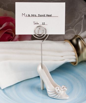 Whimsical High Heel Shoe Design Place Card Holders High