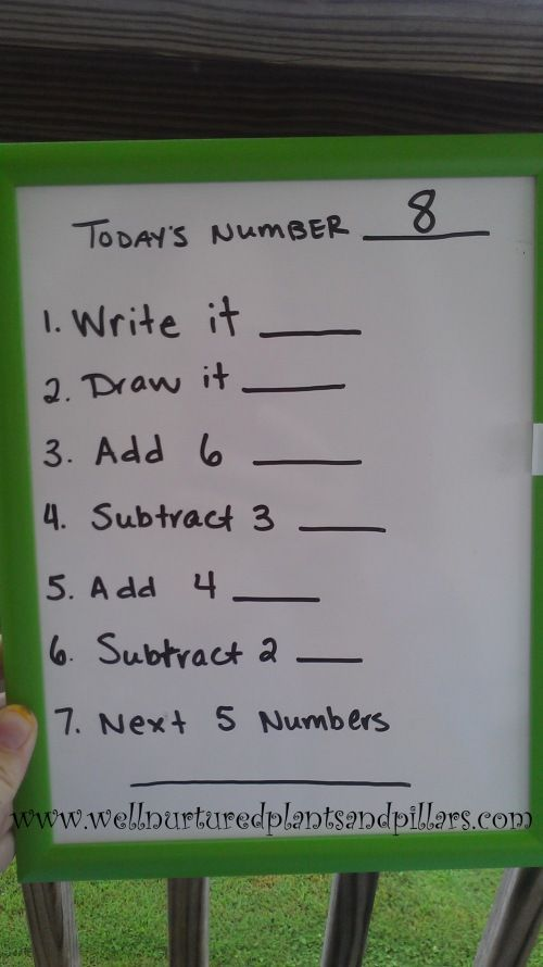 number of the day #morning work Saw a wonderful teacher do this every morning and it was awesome. She just added the whole class together finger spelling it in the air.