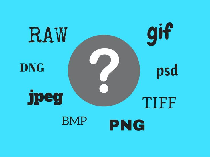 Understanding the main digital file formats for photography and when to use them