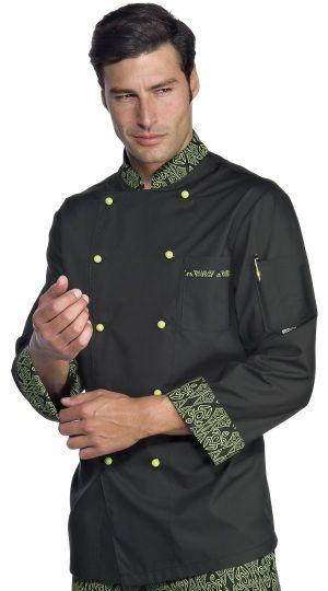 € 39,00 - Chaqueta Chef Negra Maori 59294 ISACCO