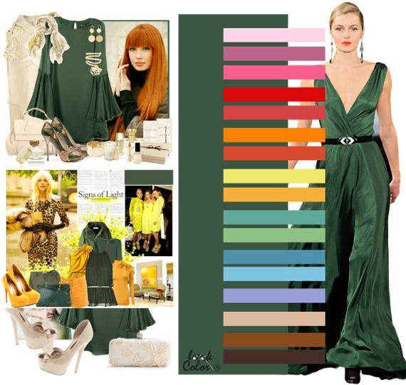 absinthe green: color combinations