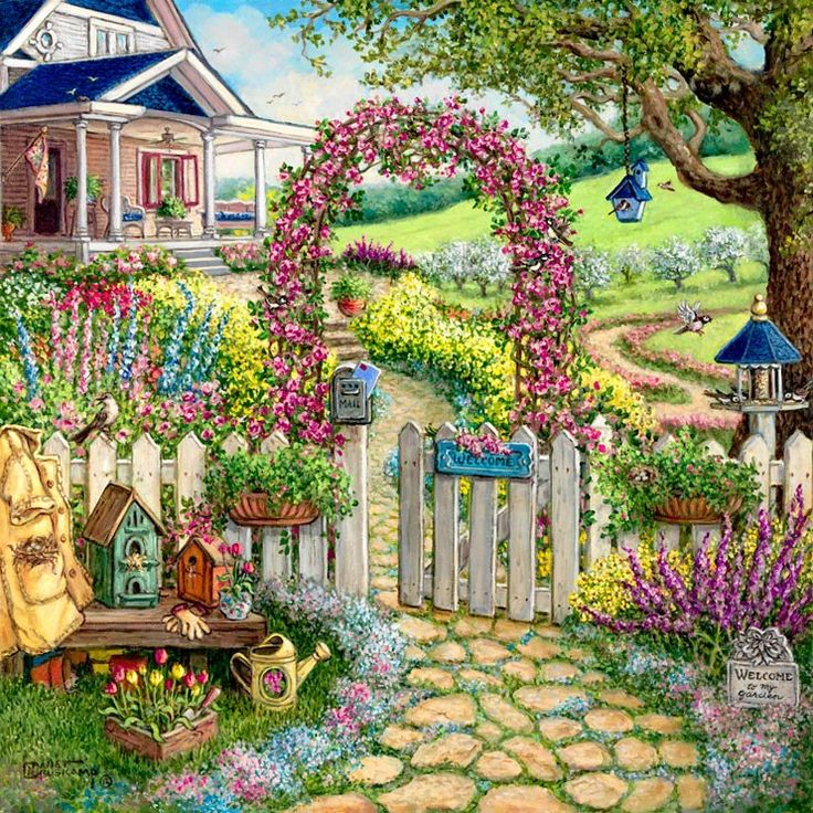 """""""...The kiss of the sun for pardon, The song of the birds for mirth-- One is nearer God's heart in a garden Than anywhere else on earth."""" By ~ Dorothy Frances Gurney Artist ~ Janet Kruskamp  https://www.facebook.com/photo.php?fbid=346675325432320=a.137532589679929.19714.137458146354040=3"""