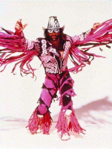Macho Man Randy, man enough to wear hot pink!