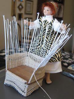 Miniature Wicker Chair Tutorial