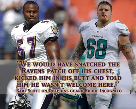 See what else a #Baltimore locker room would have done with #Incognito, according to former Raven Bart Scott. Www.Fanzzi.mobi