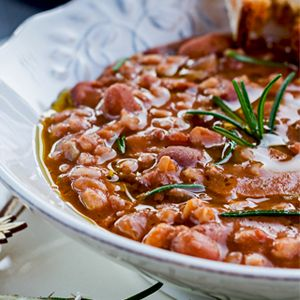 Rosemary adds an earthy dash of flavor, while ingredients such as onion, carrot, and celery round out this delicious Farro and Cranberry Bean Soup.
