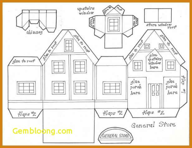 Paper House Template Paper Birdhouse Template Printable Best S