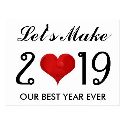 Happy New Year 2019 Motivational Quote Heart Holiday ...