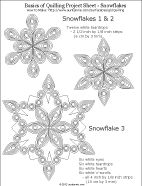 Quilling project sheet of snowflake designs