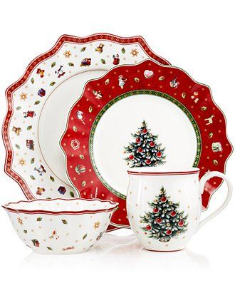 57 Beautiful Christmas Dinnerware Sets: Villeroy & Boch Toy's Delight Dinnerware Collection
