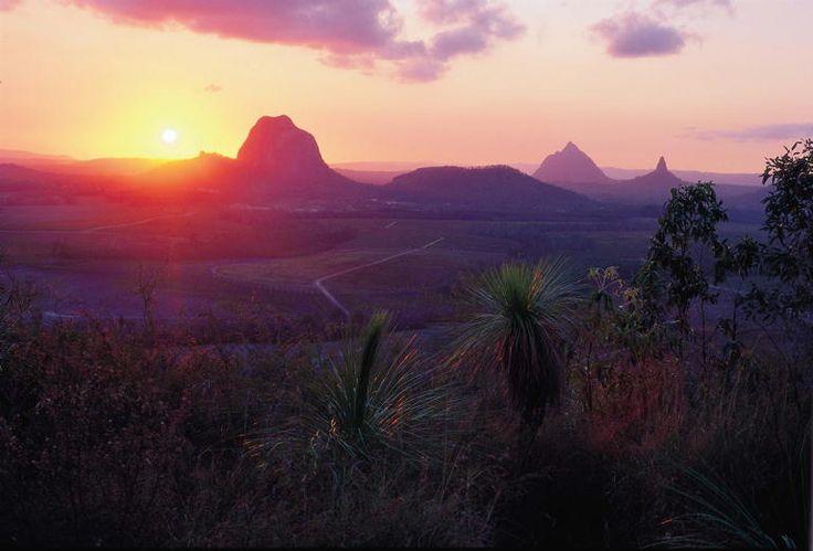 Sunset Glass House Mountains, QLD Australia