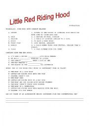 English worksheet: Revolting rhymes Roald Dahl