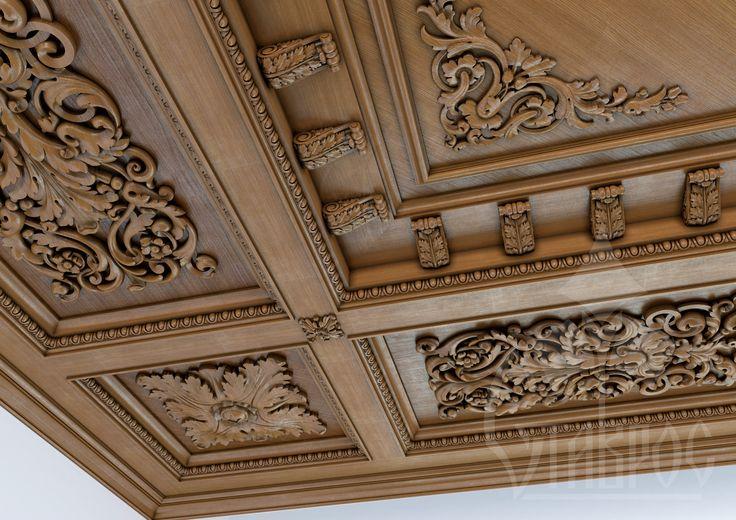 Сarved wood ceiling