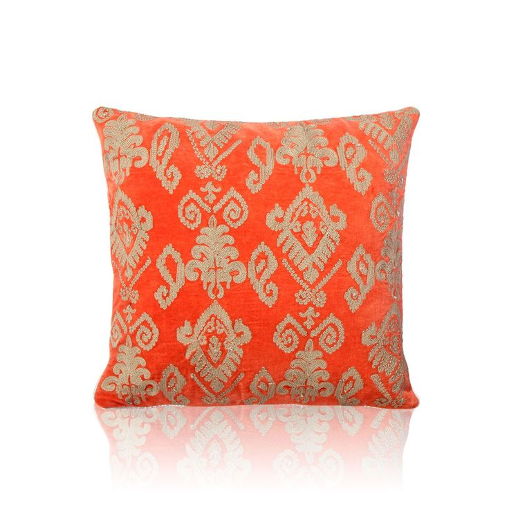Parley Cotton Velvet Cushion - Defining liveliness and elegance, this comfortable, soft and lavish cushion online is a perfect decor piece that you can use to enhance the charm of your living room. Being an exclusive cushion online, this decor piece also makes for a good gifting option. #INVHome #LuxuryHomeDecor #InteriorDesign #RoomDecor #Decorations #Decor #INVHomeLinen #Tableware #Spa #Gifts #Furniture #LuxuryHomes #Cushions