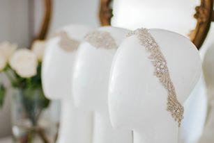 Anna Campbell bridal head pieces in The Babushka Ballerina Bridal Boutique