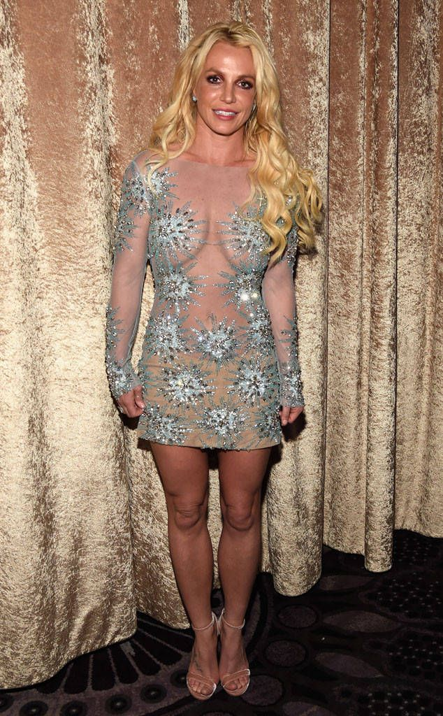 Britney Spears from The Big Picture: Today's Hot Photos  The pop star shows some skin during the Pre-Grammy Gala in Los Angeles.