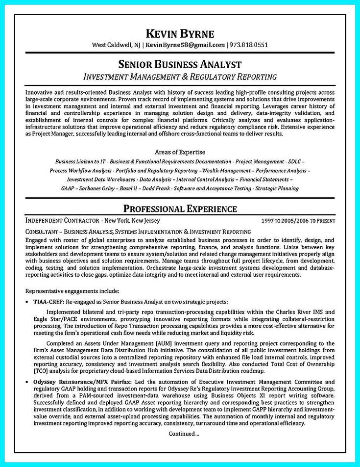 30 business systems analyst resume sample  business