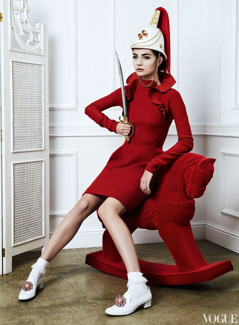 "The Terrier and Lobster: ""Toy Story"": Antonina Vasylchenko by Danil Golovkin for Vogue Russia December 2012"