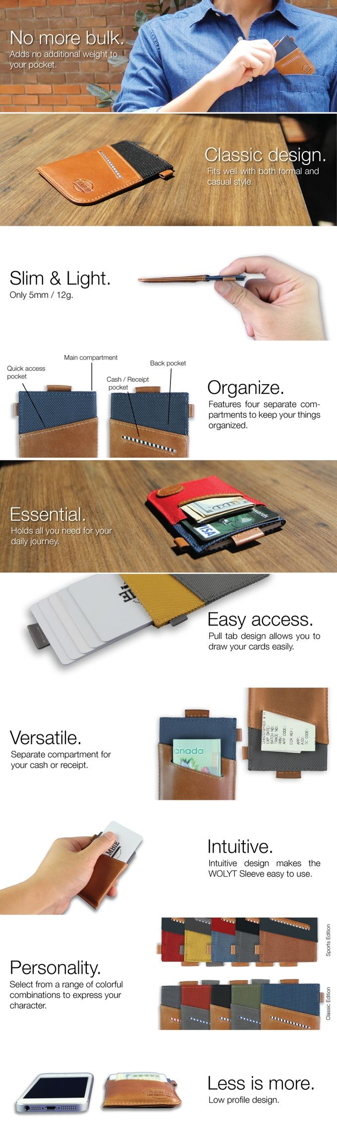 A redefined minimalist wallet that combines functionality with style. It is the essential solution for your daily journey.