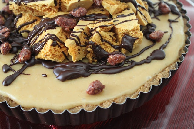 Peanut Butter Honeycomb Pie | Butter, Peanuts and Honeycombs