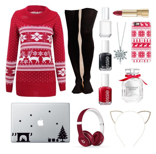 """for Christmas Day"" by laura-liisa-kumnik on Polyvore featuring Hansel from Basel, Dolce&Gabbana, BERRICLE, Casetify, Victoria's Secret, Essie, Cara and Beats by Dr. Dre"