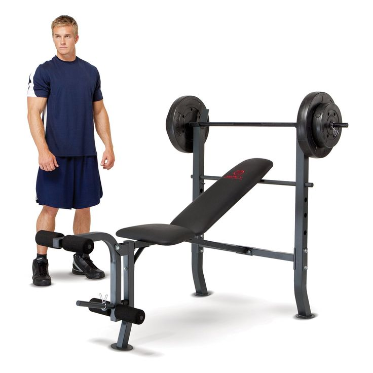 Marcy Diamond Weight Bench with 100 lb. Weight Set - MD2082