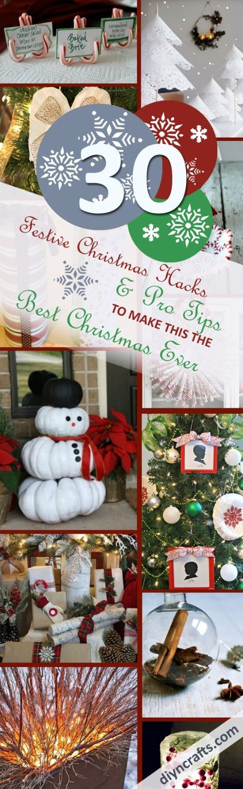 30 Festive #Christmas #Hacks and Pro #Tips to Make this the Best Christmas Ever - Christmas is definitely the priciest of all the holidays, so I like to take the DIY route as much as possible to save some bucks here and there. It also tends to get rather chaotic, so a bit of foresight and planning can go a long way to ensure that the actual eve and day runs as smoothly as possible, so that you can relax and enjoy instead of stress and pull your hair out. via @vanessacrafting