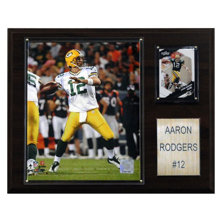NFL 12 x 15 in. Aaron Rodgers Green Bay Packers Player Plaque - 1215ARODGER
