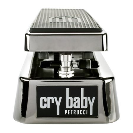 Jim Dunlop John Petrucci Cry Baby Wah Pedal The John Petrucci Cry Baby Wah Pedal is a signature guitar pedal from the legendary prog metal shredder John Petrucci. Factory set to Johns personal settings the JP95 features all the controls he used http://www.MightGet.com/march-2017-1/jim-dunlop-john-petrucci-cry-baby-wah-pedal.asp
