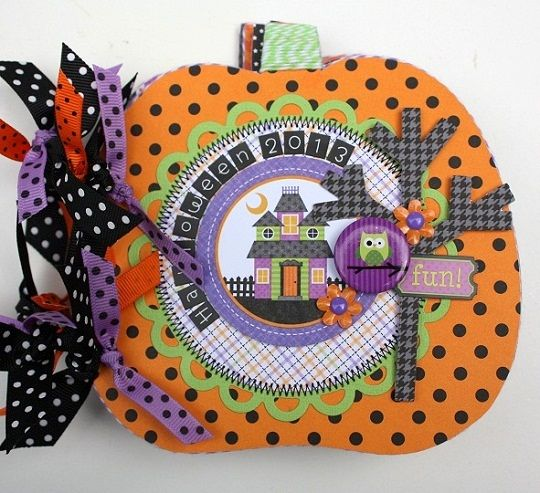 Doodlebug Design Inc Blog: Halloween Parade: Pumpkin Mini Album
