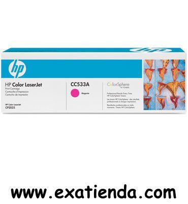 Ya disponible T?ner HP cc533a magenta   (por sólo 121.95 € IVA incluído):   -Compatible con: Impresora HP Color LaserJet CP2025dn Impresora HP Color LaserJet CP2025n Impresora multifunción HP Color LaserJet CM2320fxi Impresora multifunción HP Color LaserJet CM2320nf Garantía de fabricante  http://www.exabyteinformatica.com/tienda/1989-toner-hp-cc533a-magenta #hp #exabyteinformatica