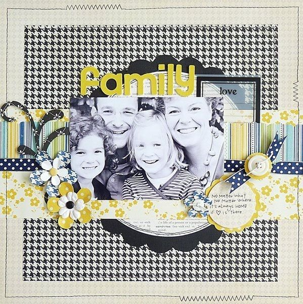 Family (CS #64) - Two Peas in a Bucket scrapbooking #page# layout by kerri.smith.167