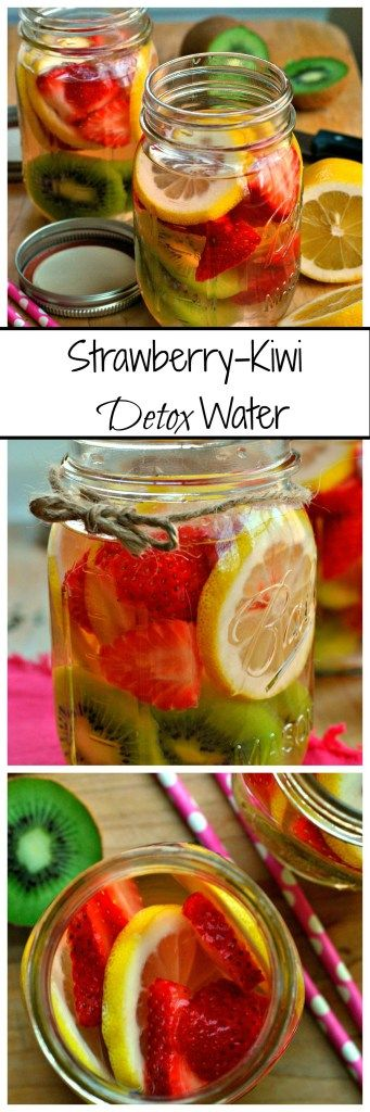 Cleanse your body and mind with this Strawberry-Kiwi Detox Water. Fresh fruit soaked in cold water make this drink one you'll want to be sipping on all day!