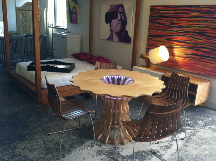 Mobel Link Modern Furniture Bumbershoot Table   Mobili Now Birmingham, MI # Detroit #Handcrafted