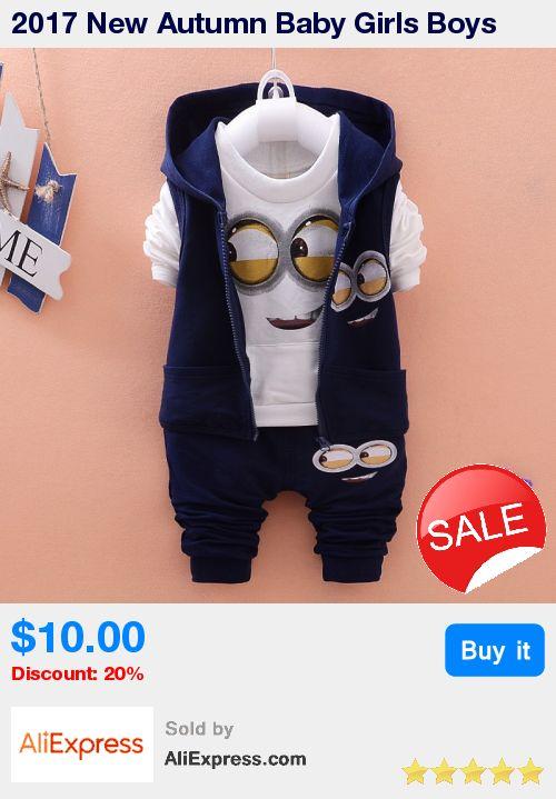 2017 New Autumn Baby Girls Boys Minion Suits Infant/Newborn Clothes Sets Kids Vest+T Shirt+Pants 3 Pcs Sets Children Suits * Pub Date: 19:20 Jul 4 2017
