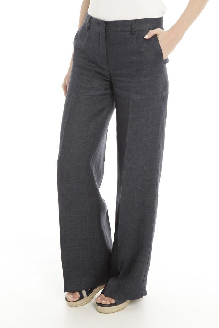 Pantaloni gamba larga, blu marino - Diffusione Tessile