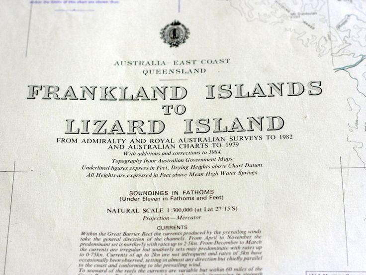 FNQ chart  - Cairns to Lizard Island 1980