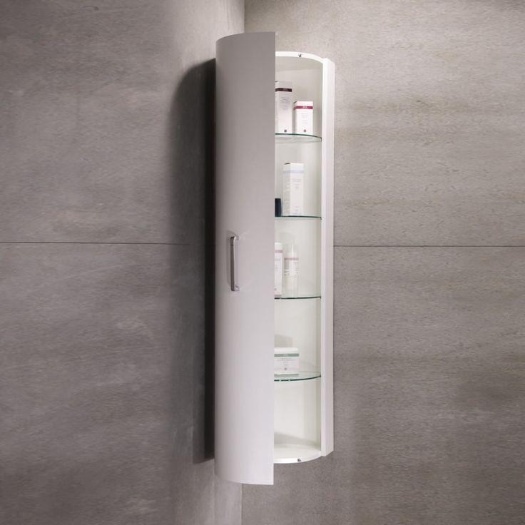 furniture for bathroom design using corner white wood glass shelf bathroom storage cabinet wall mount and grey concrete bathroom wall fascinating bathroom