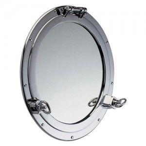 Patrijspoort spiegel, chroom, 30cmØ