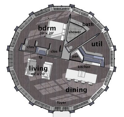 Super Cool Circle Layout Re Purposes Silo Jay House